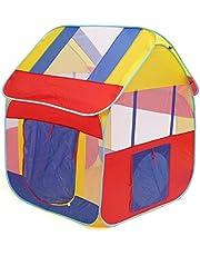 deAO Casita de Juegos Tienda Pop Up Carpa Infantil Diseño Autoarmable Montaje Rápido Incluye Bolsa de Almacenamiento