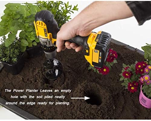 "[Upgrade Version]Auger Drill Bit Garden Plant Flower Bulb Auger 3""x10"" Hex Drive Drill Garden Plant Hole Digger Drill Bit,DIY Guru Auger,Bulb & Bedding Plant Auger,Garden Bulb Planters"