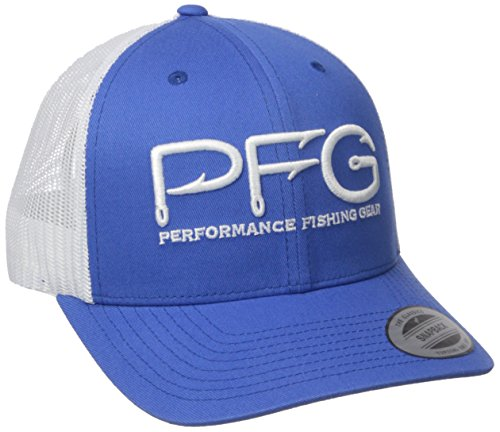 - Columbia PFG Mesh Snap Back Ball Cap, Vivid Blue/PFG Hook, One Size