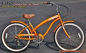 Women's Modena Sport SF 7-Speed Cruiser Bike Color: Orange