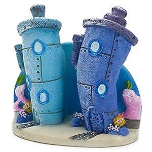 Penn Plax Spongebob Bikini Bottom Homes Aquarium Ornament 108