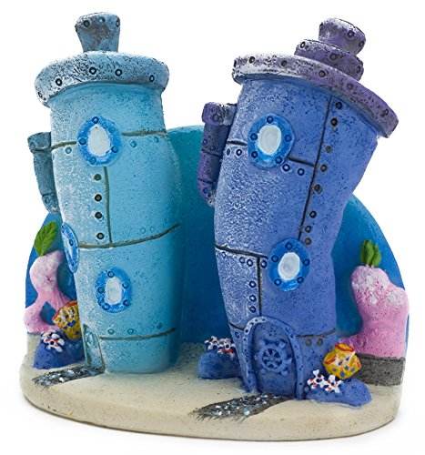 penn plax spongebob bikini bottom homes aquarium ornament. Black Bedroom Furniture Sets. Home Design Ideas