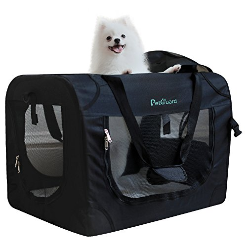 Pet Dog Carrier Soft Sided Cage Travel Crate Portable with Steel Frame for Small Dogs and Cats (24