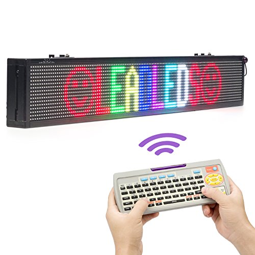 Leadleds 40 X 6-in Led Signs Full Color for Business, Easy Remote Programmable Scrolling Message Board, Great for Restaurant, Beer, Bar, Store, Window, Wall (Text, Symbol, Animation - Number Great Mall Phone