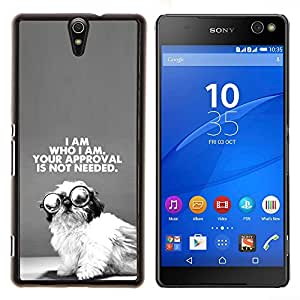 Dragon Case - FOR Sony Xperia C5 Ultra - cute wise puppy I am who black text - Caja protectora de pl??stico duro de la cubierta Dise?¡Ào Slim Fit