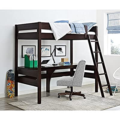 Dorel Living Harlan Loft Bed with Desk