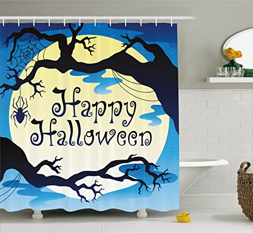 Halloween Decorations Shower Curtain by Ambesonne,
