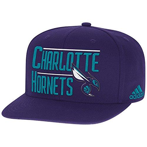 Cap Charlotte Wool (adidas NBA Charlotte Hornets Men's High Box Flat Brim Snapback Cap, One Size, Purple)