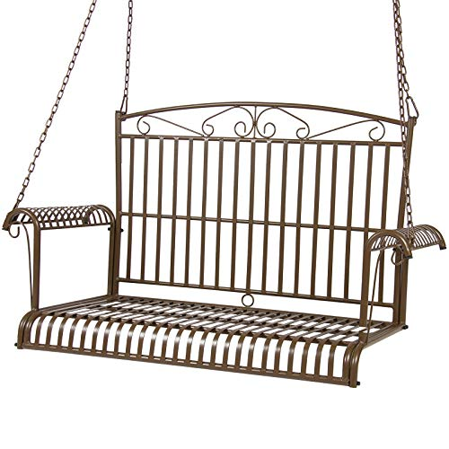 Cheap Best Choice Products Iron Patio Hanging Porch Swing Chair Bench Seat Outdoor Furniture