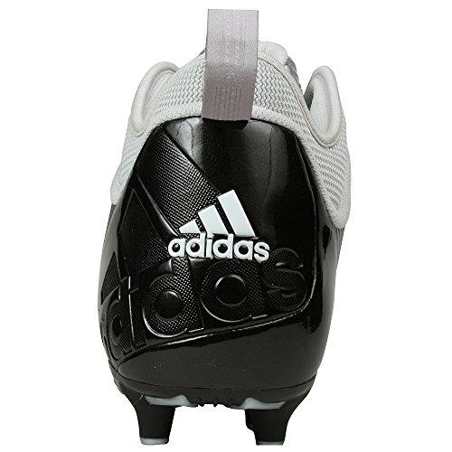 Adidas Mænds Svide 9 Superfly Midten Fodbold Klampen Sort / Hvid / Sølv KCmemvK44