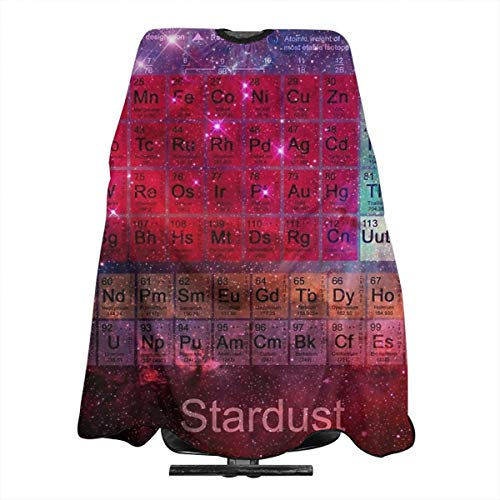 (Stardust Periodic Table Professional Barber Cape Salon Home Barbers Hairdressing Haircut Apron Large size 66