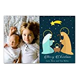 30 Christmas Family Photo Card Holiday Greeting Personalized Nativity Photo Paper