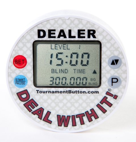 Poker Button (Tournament Dealer Button (white-Grey))