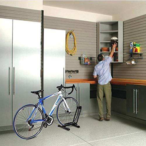 Kanizz 高耐久ガレージ玄関自転車ラックホルダー 自転車 自転車 床 ハブ ショールーム ディスプレイオーガナイザースタンド 自転車 駐車 収納スタンド ディスプレイラック