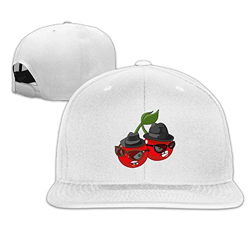 Unisex Emoji Cherry Sunglasses Adjustable Snapback Trucker Cap White One - Sunglasses Bentley
