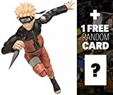 Naruto Uzumaki Action Figure: Naruto Shippuden x Tamashii Nations S.H. Figuarts Series + 1 FREE Official Naruto Trading Card Bundle