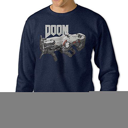 Missone Doom Gun Mens Pullover Sweatshirt Small -