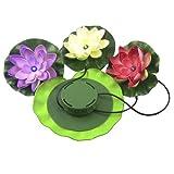 Solar Powered Floating Lotus Light LED Flower Lamp Pond Garden Pool Nightlight