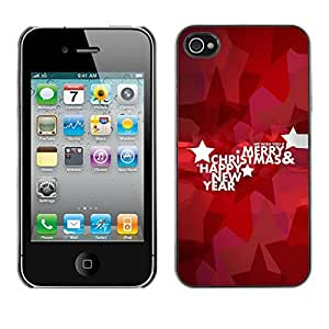 YOYO Slim PC / Aluminium Case Cover Armor Shell Portection //Christmas Holiday Happy New Year 1266 //Apple Iphone 4