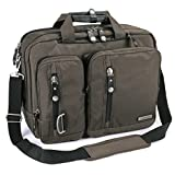 FreeBiz 18.4 Inches Multi-function Laptop Briefcase Backpack with Handle and Shoulder Strap Fits Up To 18 Inch Laptops (18.4 inches, Army Green)