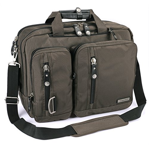 FreeBiz Laptop Bag 17 Inch Laptop Backpack Multi-Function Briefcase with Handle and Shoulder Strap Fits Up to 17.3 Inch Laptops (17.3 Inches, Army Green)