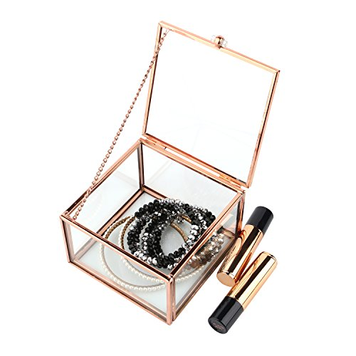 Moosy Life Vintage Chrome Decorative Box (Rose Gold Cube)