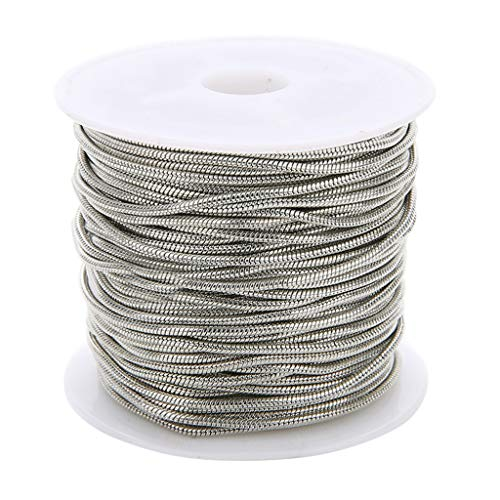 1.5mm gold Perfeclan 10Yds 1.5mm Fashion Copper Snake Chain Necklace Chain Link Chain Bracelet Chain fit European Beads Charms DIY Findings Gold//Black//Silverwhite//Silver