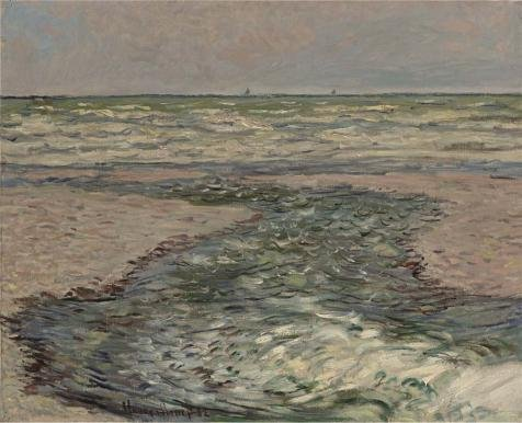 Oil Painting 'Claude Monet - The Seacoast Of Pourville, Low Tide, 1882' Printing On Perfect Effect Canvas , 16x20 Inch / 41x50 Cm ,the Best Wall Art Artwork And Home Decor And Gifts Is This Amazing Art Decorative Canvas Prints - Walk The Line Movie Costumes