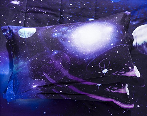 Galaxy 3D Printing Never Fade Quilt Comforter Sets