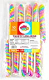Rainbow Twisty Lollipop – Birthday Party, Favors, Decorations, Supplies – By Lolly Pop Party (Pastel Rainbow)