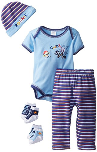 Baby Essentials Baby-Boys Newborn Grand Slam 5 Pack Gift Set, Blue, 3-6 Months