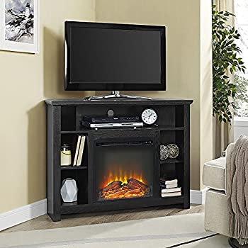 Amazon Com We Furniture 48 Quot Corner Tv Stand Fireplace