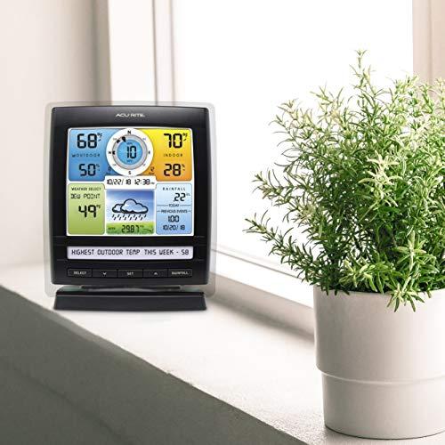 AcuRite Iris (5-in-1) Indoor/Outdoor Wireless Weather Station for Indoor and Outdoor Temperature and Humidity, Wind…