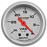 "Auto Meter 4384 Ultra-Lite 2-1/16"" 30 in. Hg Mechanical Vacuum Gauge"