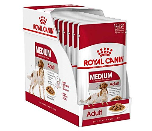 Balanced Royal Canin Wet Medium Adult – 10 X 140g Wet Food For Medium Adult Dogs, With A Healthy Delicious Recipe Of…