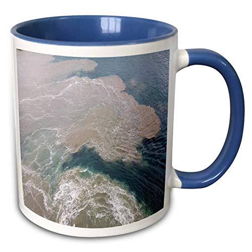 (3dRose lens Art by Florene - Water Art - Image of Sandbar At Captiva Island Florida - 15oz Two-Tone Blue Mug (mug_308274_11))