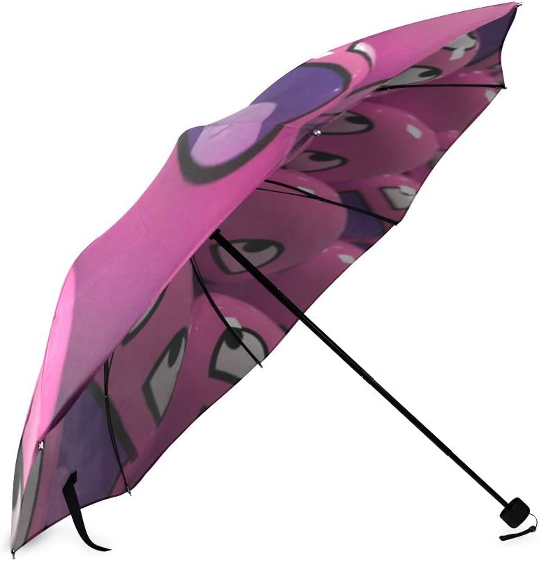 Custom Smiley Faces Compact Travel Windproof Rainproof Foldable Umbrella