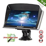 Xgody 826 7'' 8GB Capacitive Touchscreen SAT NAV Car Truck GPS Navigation System Navigator with 8GB TF Card Lifetime Maps for Mexico Canada Usa