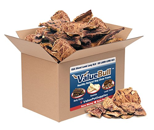 ValueBull USA Sliced Lamb Lung Dog Chews, Bulk, 9 Pounds For Sale