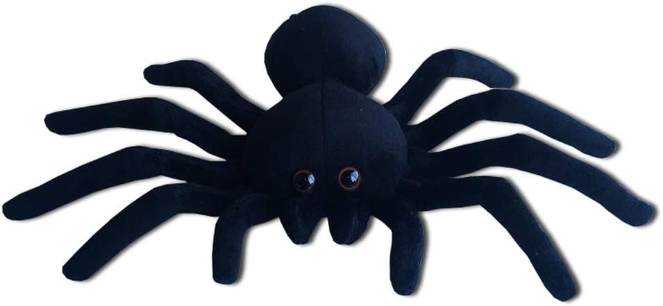Tarantula Stuffed Animal, Amazon Com Black Spider Plush 9 Inch Collectible Decorative Big Eyes Tarantula Stuffed Toy Soft Take A Long Plushie Pillow Squishes Washable Cushy Mini Doll Toys Games