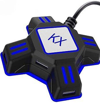 Adaptador de teclado y ratón Convertidor FPS Juego para Nintendo Switch/Xbox / PS4 / PS3 Consola