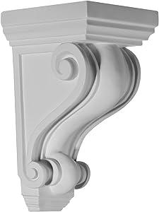Ekena Millwork COR02X02X04DE 2 1/4-Inch W x 2 1/4-Inch D x 4 1/4-Inch H Devon Corbel
