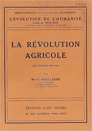 Livre gratuits en ligne La Révolution agricole pdf ebook