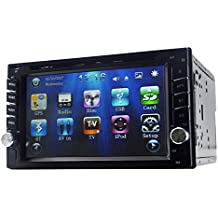 """Yody Audio Double Din 6.2"""" Car DVD Player Touchscreen Bluetooth DVD/CD/MP3/USB/SD AM/FM RDS Radio Car Stereo In Dash with Backup Camera Remote Control (No Map Card)"""