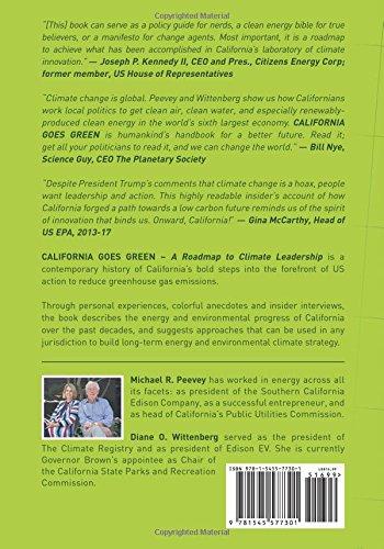 California goes green a roadmap to climate leadership michael r california goes green a roadmap to climate leadership michael r peevey diane o wittenberg 9781545577301 amazon books malvernweather Choice Image