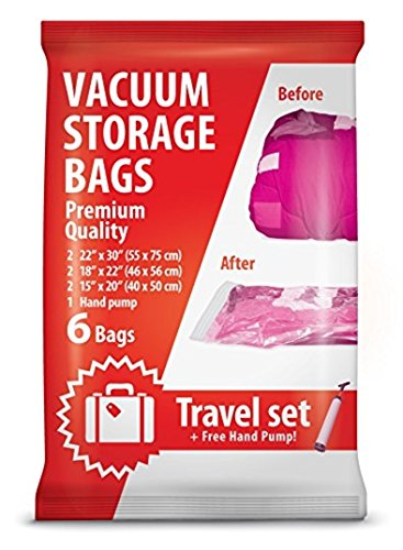 Mr Stimer Vacuum Storage Bags For Traveling 6 Reusable