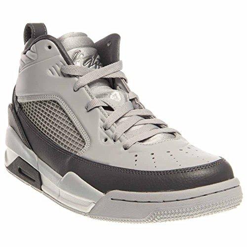 (nike air jordan flight 9.5 mens hi top basketball trainers 654262 sneakers shoes (us 10.5, wolf grey white dark grey 006))