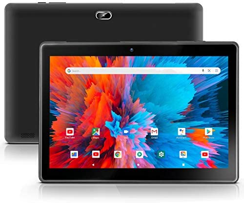 Android 10.0 Tablet 10 inch qunyiCO Y10 (10.1''), 2GB RAM 32GB Storage, 2MP+8MP Dual Camera, Quad-Core Processor, 1280x800 IPS HD Display Screen, Wi-Fi Bluetooth 5000mAh, Google GMS Certified Black