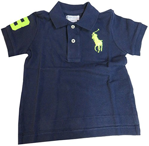 Shirt Rugby Lauren Boys Ralph (RALPH LAUREN Polo Infant Boys Big Pony Short Sleeve Navy (24 Months))