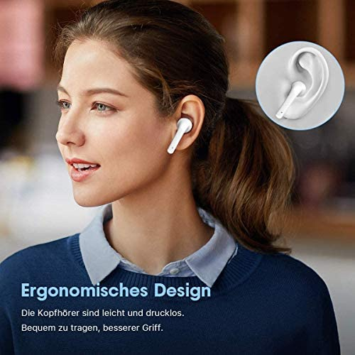 Bluetooth 5.1 Wireless Earbuds Headsets Bluetooth Headphones 【24Hrs Charging Case】 IPX7 Waterproof 3-d Stereo Pop-ups Auto Pairing Fast Charging for iPhone/Samsung/Android AirPods Pro Apple Earbuds